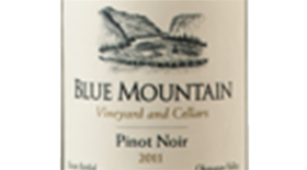 Blue Mountain Vineyard and Cellars 2011 Pinot Noir Label
