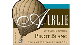 Airlie Winery 2013 Pinot Blanc Label