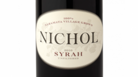 Nichol Vineyard 2015 Nate's Vineyard Syrah Label
