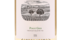 Bordertown Vineyards & Estate Winery 2015 Pinot Gris Label