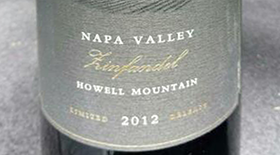 Howell Mountain Zinfandel Label