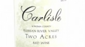 Carlisle Two Acres 2014 Red Wine Label