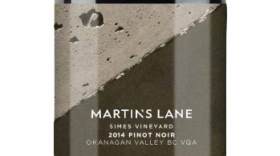 Martin's Lane Winery Simes Vineyard 2014 Pinot Noir Label