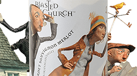 Blasted Church Vineyards 2011 Cabernet/Merlot Blend Label