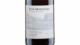 Blue Mountain Vineyard and Cellars 2013 Pinot Noir Label