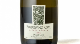 Burrowing Owl Estate Winery 2016 Pinot Gris Label