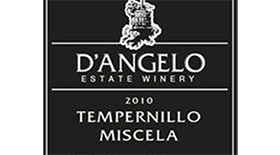 D'Angelo Estate Winery 2010 Tempranillo | Red Wine